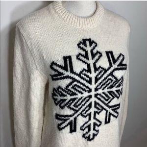 GAP wool knit snowflake pullover sweater